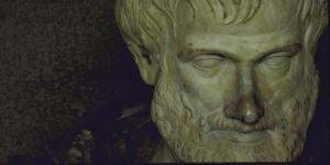 Marble head of Aristotle.